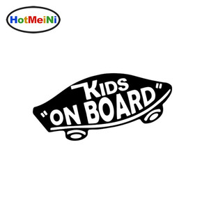 HotMeiNi 19*8cm INTERNAL Kids On Board Baby on Board Car Stickers Warning Viny Decals Funny for Car Body Motorcycle Window Black