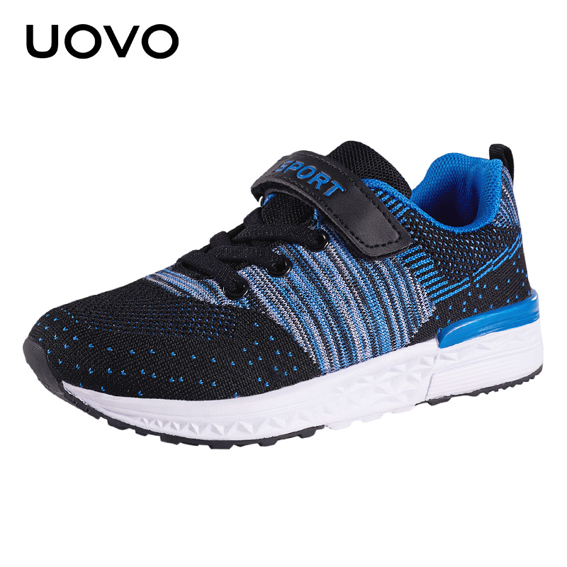 UOVO 2018 New Kids Running Shoes For Boys And Girls Casual Fashion Breathable Mesh Shoes Children Sneakers Size #25-35 2016 new shoes for children breathable children boy shoes casual running kids sneakers mesh boys sport shoes kids sneakers