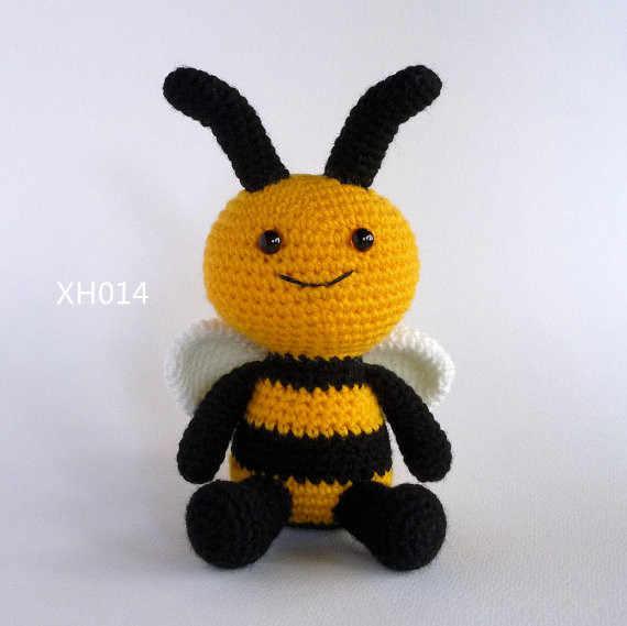 Амигуруми, вязаная игрушка кукла пчела, Шмель, детская игрушка, связанная крючком, мягкая игрушка, мягкая игрушка,