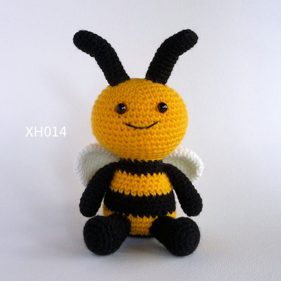 цена на Amigurumi Bee , Crochet Toy Bee doll, , Bumble Bee, Crochet baby Toy, Soft Toy, Stuffed Toy,