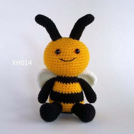 Amigurumi Bee Crochet Toy Bee Doll Bumble Bee Crochet Baby Toy