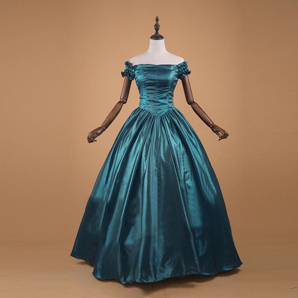 Été victorien gothique femmes Vintage Satin robe élégante robe de bal Halloween Banquet robe de soirée robe de soirée sur mesure