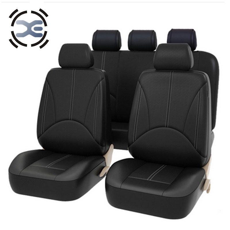 5 Seats Artificial Leather Seat Cover Universal Fit Most Car Protects Seats From Wear Automobiles Interior Accessories A126(China)