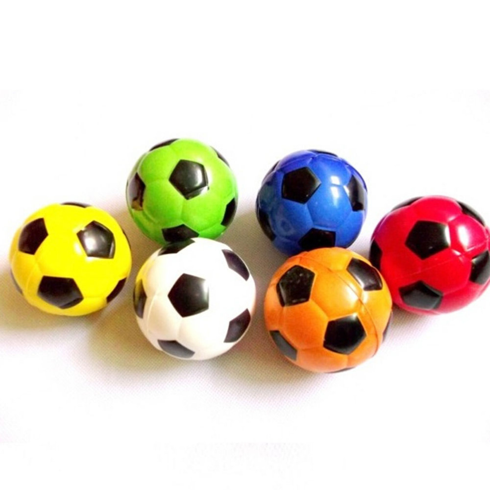 1PCS Hand Massager Football Ball Exercise Soft Elastic Squeeze Stress Reliever Balls Colorful Massage Tool Random