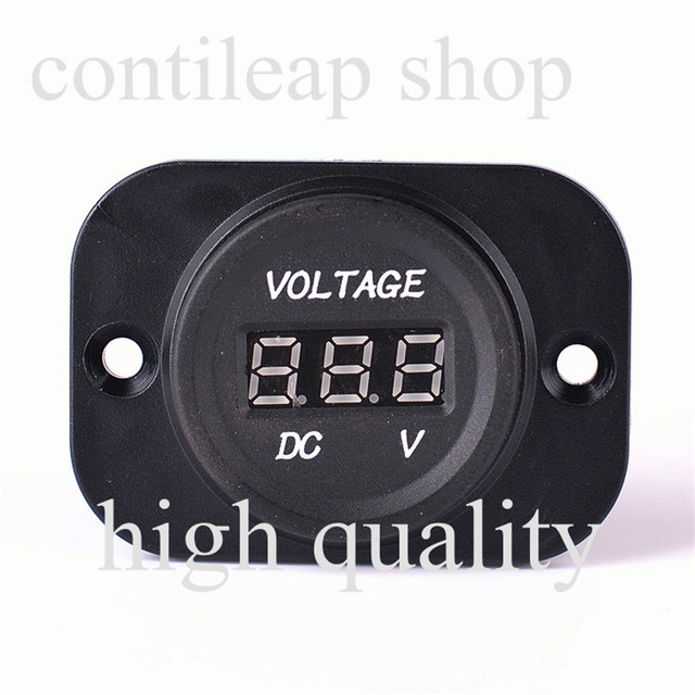IZTOSS 12-24V Car battery voltage meter / motorcycle universal /LED digital voltmeter / car voltmeter / voltmeter with wire