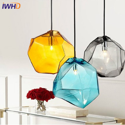 Nordic Style Modern LED pendant lights For Lighting Creative Color Glass lighting Fixtures Lamparas Dining Room Bedroon Lamp
