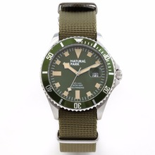 Sport Watches For Men military Brand Luxury Quartz Casual Wristwatch NATURAL PARK relogio masculino Nylon Strap NP1319-GRN