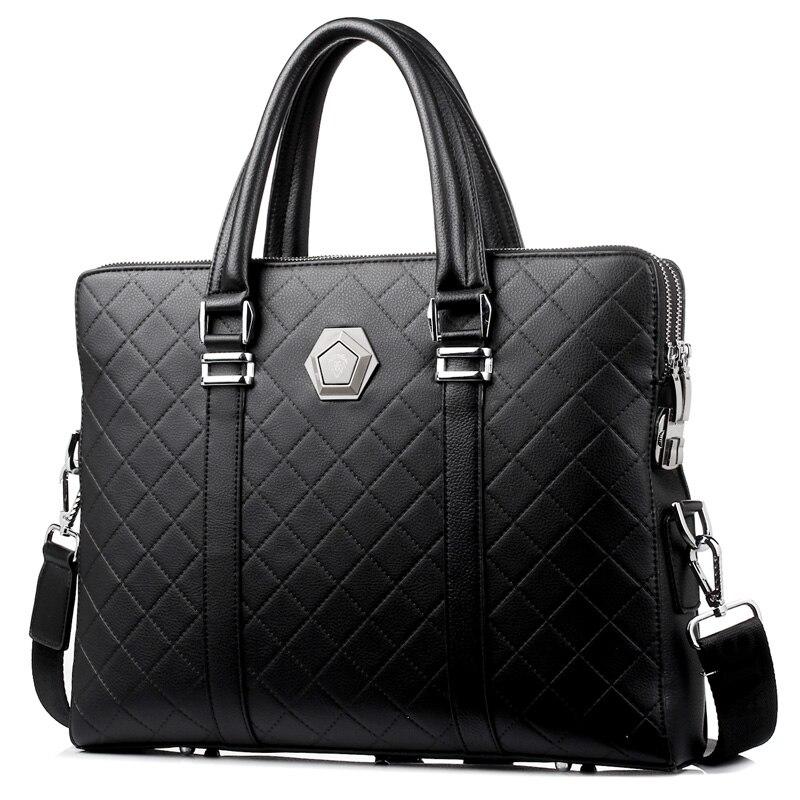 Men Coded Lock Briefcase Anti Theft Laptop Handbag Double Layers Shoulder Bag  New Design Crossbody Bag Male Business Travel Bag