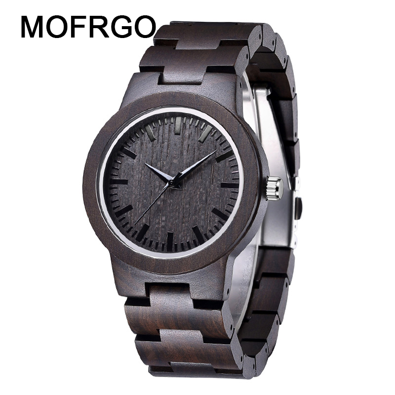 Vintage Zebra Wood Watch for Men with All Nature Bamboo Wooden Band Clock Man Quartz for Male As Gift 2018 New Arrival yisuya luxury wooden watches for men vintage analog quartz handmade walnut zebra bamboo wood band wristwatch clock gifts reloj