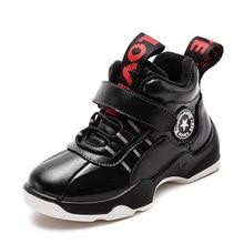 ฤดูหนาวชายรองเท้าเด็กรองเท้าเด็กรองเท้าหนังแฟชั่นกลางแจ้ง Martin Boots Plush Warm ข้อเท้ารองเท้าผ้าใบลำลองด้านล่างยาง