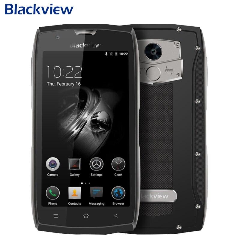 Оригинал Blackview <font><b>BV7000</b></font> Pro Сотовый Телефон <font><b>IP68</b></font> Водонепроницаемый RAM 4 ГБ ROM 64 ГБ MT6750T Octa Ядро 5.0 дюймов Отпечатков Пальцев GPS Смартфон