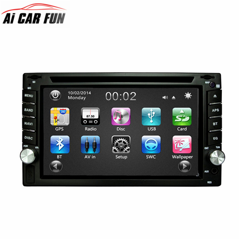 2Din Car DVD Player GPS Navigation 6.2 inches Car Stereo Radio RM-LC353 GPS Bluetooth USB/SD Player Universal Car Radio Player 262 bluetooth v3 0 car dvd player