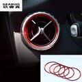 5 Шт. Для Mercedes Benz A/B/GLA/CLA Класс Алюминиевого сплава Воздуха на выходе стикер/Инструмент панель Воздуха на выходе украшение кольцо