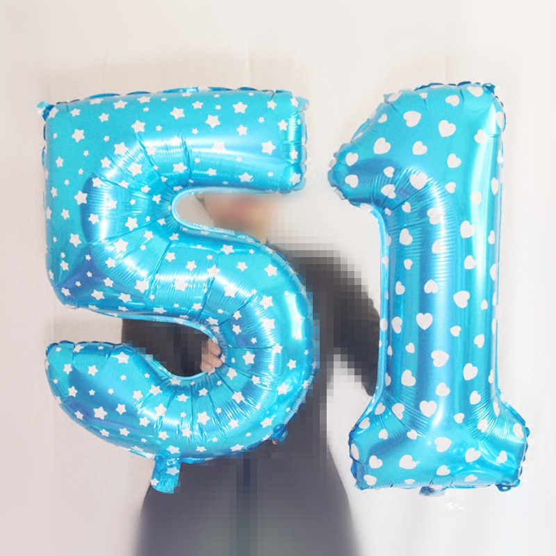 40 Polegada número balões grande rosa folha balões balão hélio decorações de casamento festa de aniversário suprimentos de despedida favores