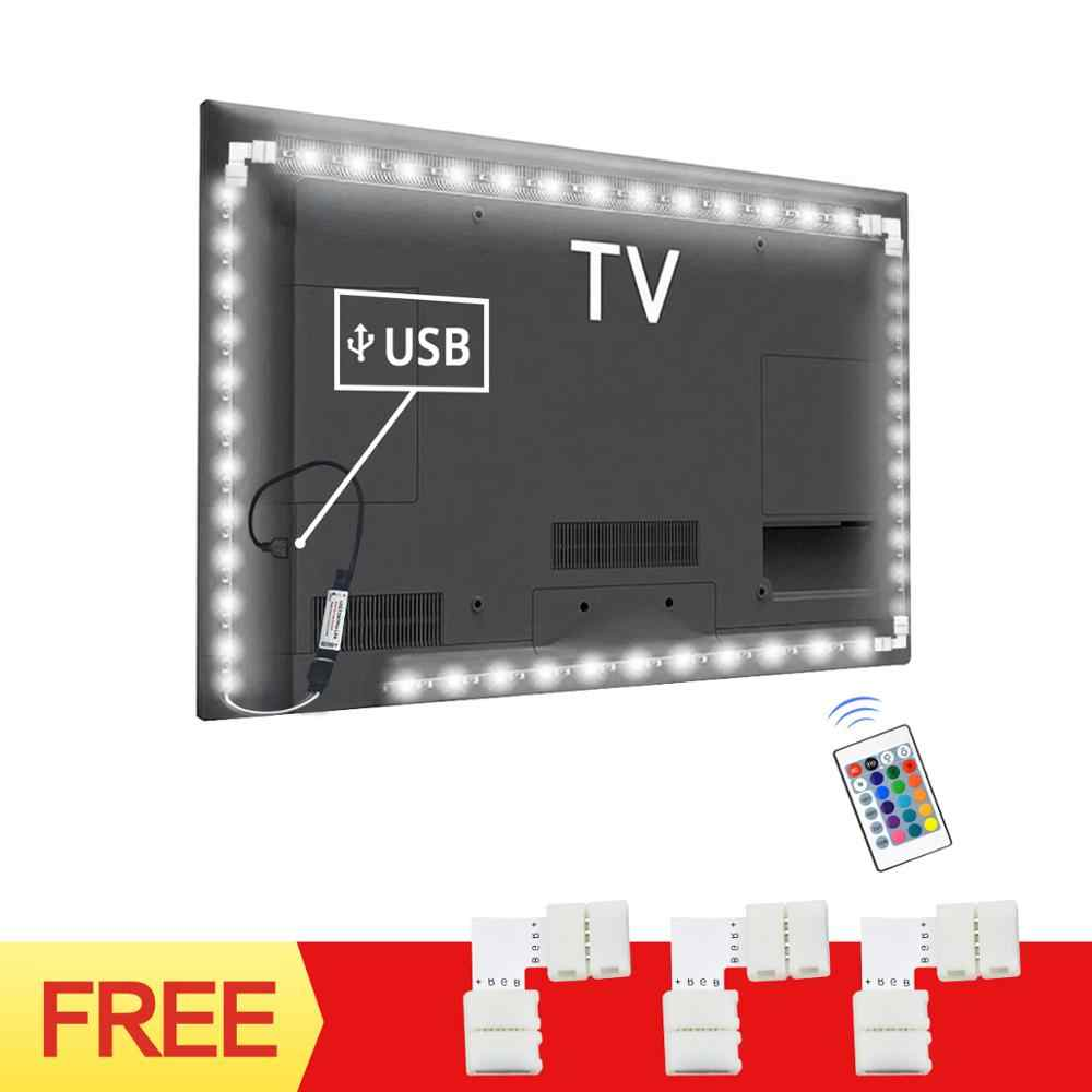 DC 5V USB Power LED Strip light 5V 5050SMD RGB LED lamp Tape 1M 2M 3M TV backlight lamp For TV PC Background LED Diode lighting
