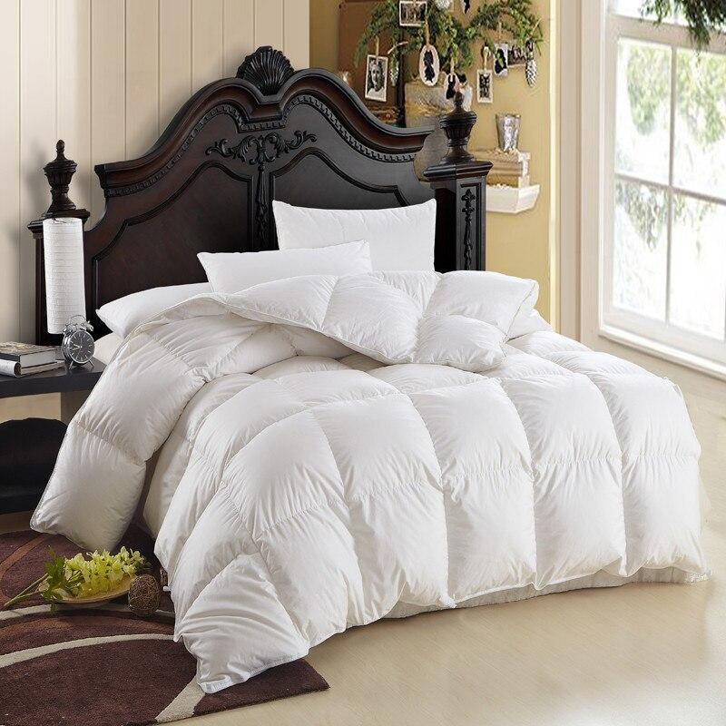warm soft winter comforter 95 goose down quilt duvet bedding filler filling king queen twin. Black Bedroom Furniture Sets. Home Design Ideas