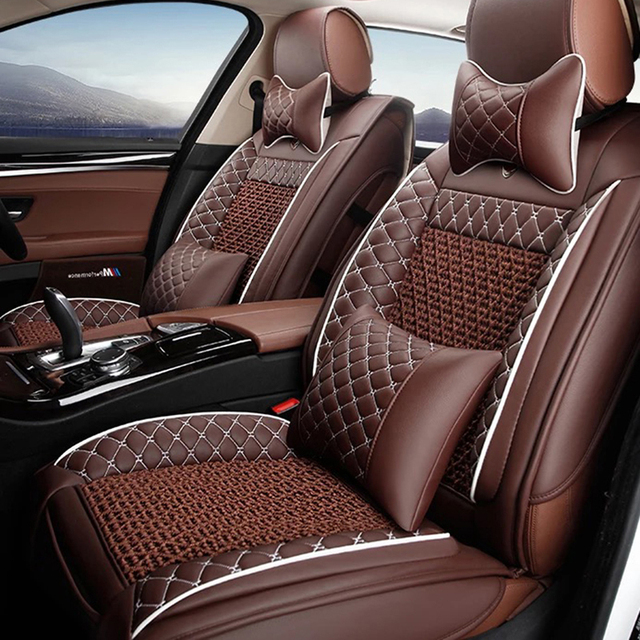 Universal Leather car seat covers For Audi A6L Q3 Q5 Q7 S4 A5 A1 A2 A3 A4 B6 b8 B7 A6 c5 c6 A7 A8 car accessories styling