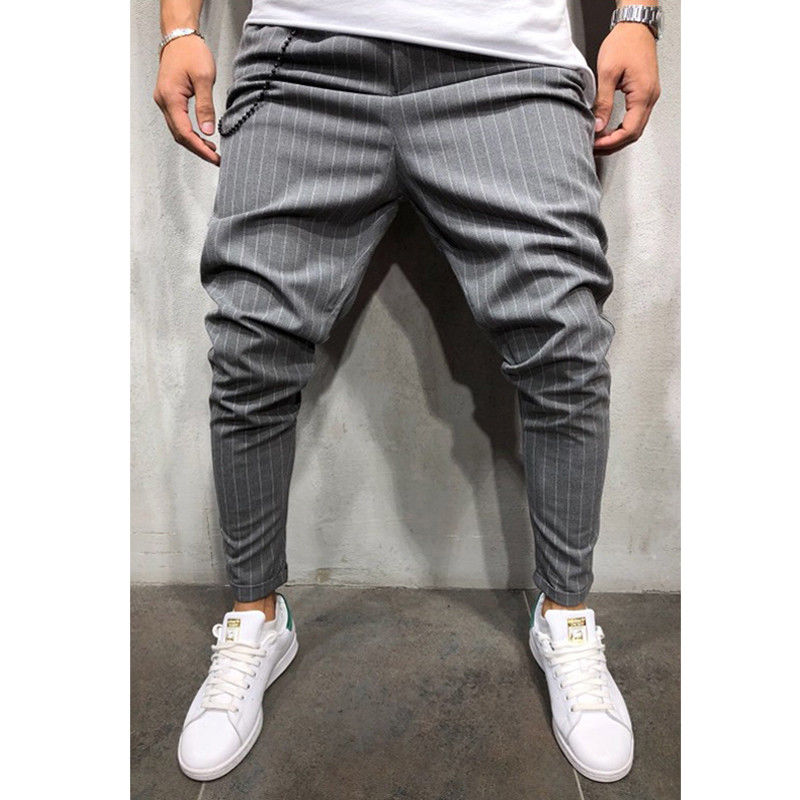 Pants 2018 New Brand  Men Long Casual  Pants Slim Fit Trousers Workout  Business Bottoms Hip Hop Sweatpants