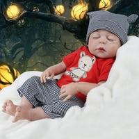 55 CM Soft Silicone Doll Reborn Alive Dolls Lifelike Sleeping Real Reborn Boy Toys For Children