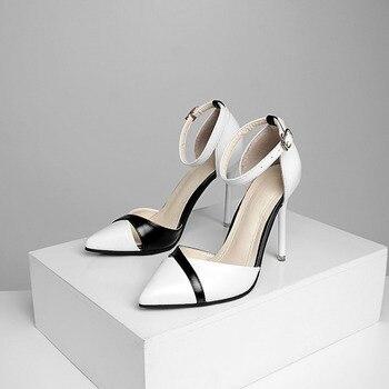 2018 new women's high heels Korean version of Baotou hollow sexy stiletto sandals wild work single shoes Pumps