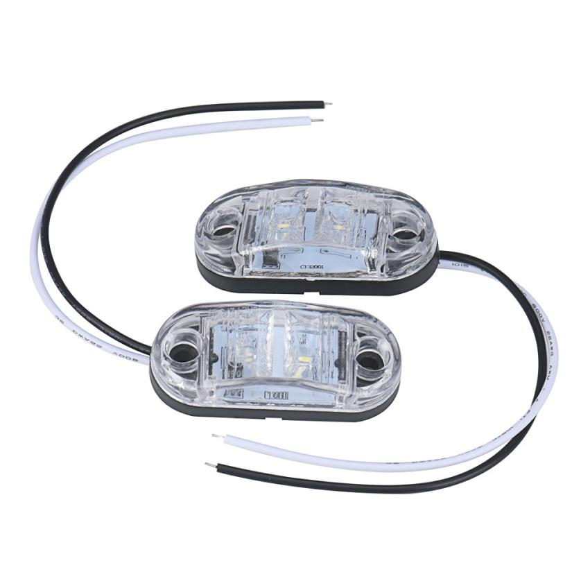 2x12 v / 24 v Tow Truck Side Marker Light LED Submersible Lamp Apr30 Drop Shipping