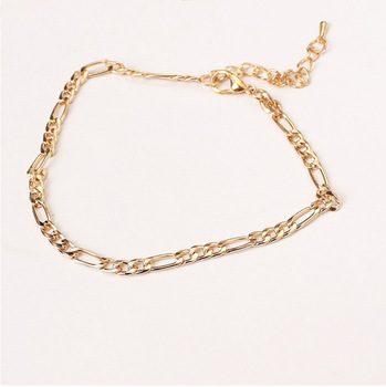 Hot Fashion jewelry trade fashion simple wild paragraph Ms. anklet foot decorated with metal chains called bare chain 1