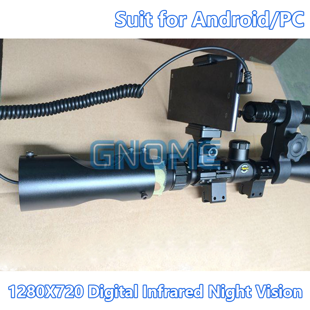 Digital Infrared NVR Night Vision Rifle Hunting Goggles Scope Device Riflescope Camera OTG For Android Phone Micro USB Monocular rg 55 1x24 head mounted night vision scope night vision googles night vision goggles infrared goggles