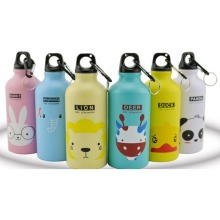 Modern Design 500ml Lovely Animals Outdoor Portable Sports Cycling Camping Bicycle Aluminum Alloy School kids Water Bottle