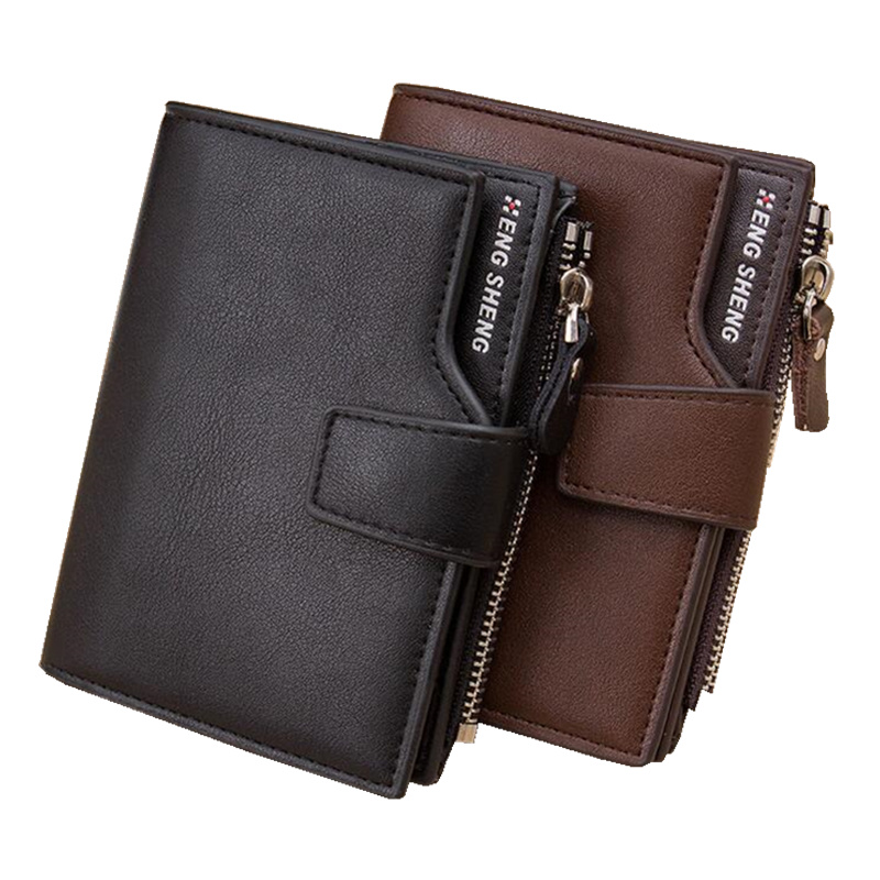 ФОТО High quality Leather men's Wallets Wholesale purse leather SHORT leather wallets ,Best gift, Free Shipping