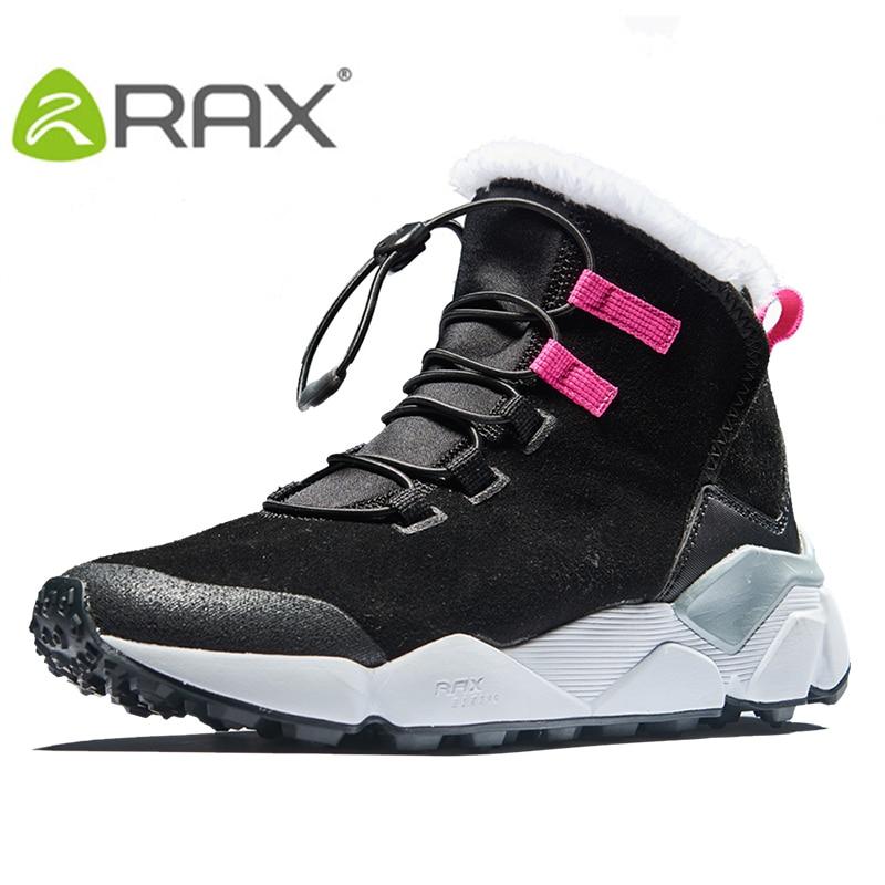 RAX Women/'s Hiking Boots Winter Snow Boots Women Outdoor Hiking Shoes Trekking Warm Anti-slip Shoes Women Climbing Boots