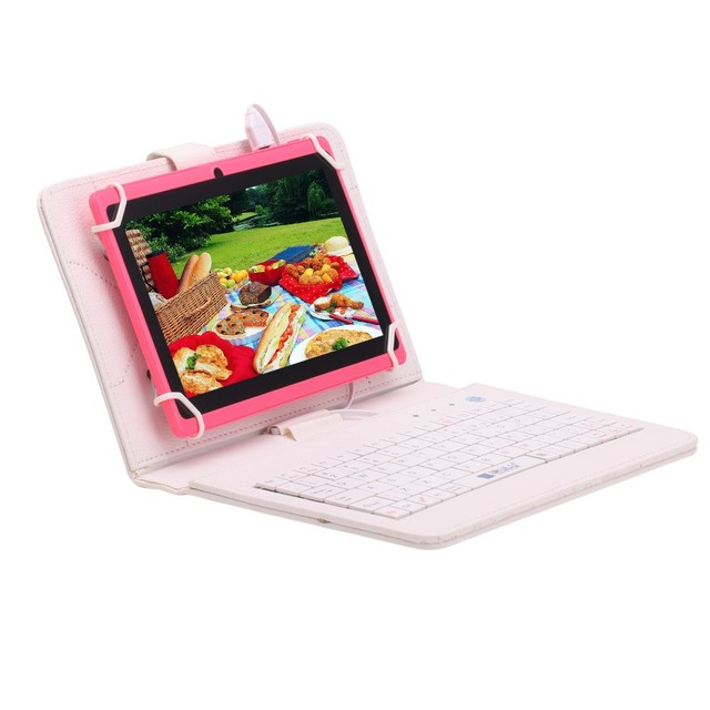 iRULU eXpro 7» Tablet  Android 4.4 Quad Core Tablet Allwinner 8GB ROM Dual Cameras supports WiFi OTG HOT Seller w/EN Keyboard