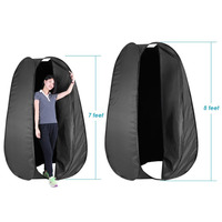 Neewer Black 7 Feet 213cm Collapsible Indoor Outdoor Camping Photo Studio Changing Dressing Tent Fitting Room