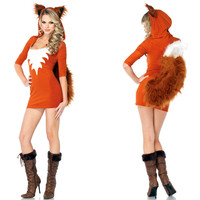 LoveyRoyal Sexy Cosplay Halloween Costumes Little Magic Girl Cat Female Animal Role playing Party Carnival Costume Fox Called