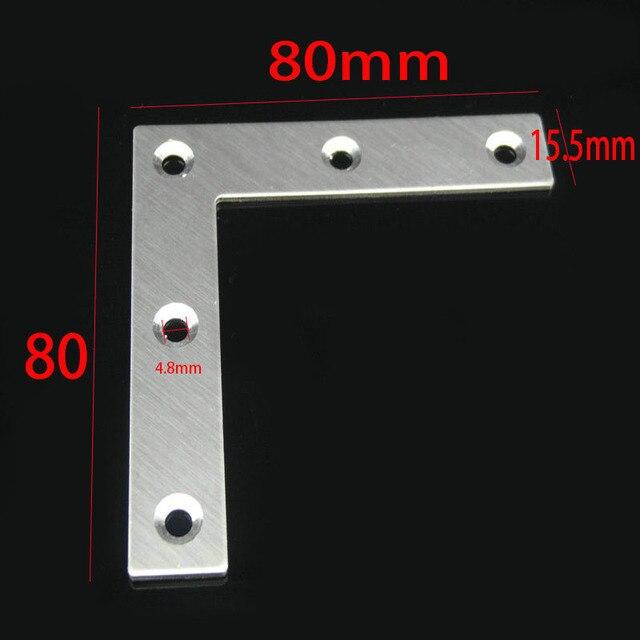 L Form Flache Eckwinkel 80x80x1mm Rechtwinklig 90 Grad Flache Feste