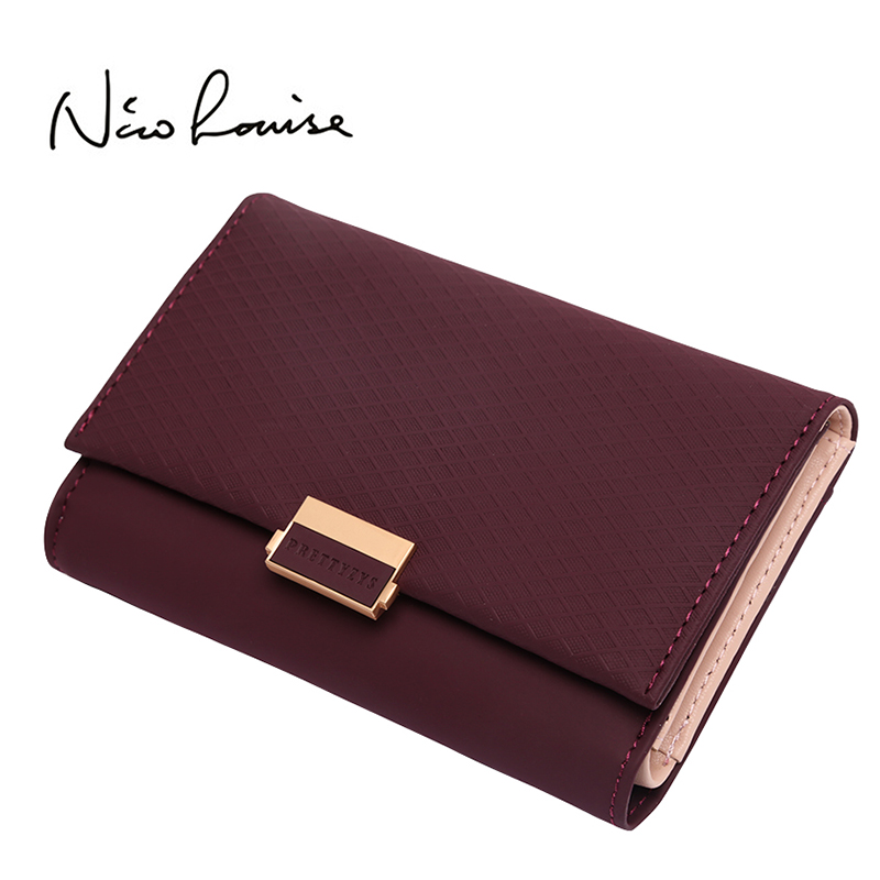 2018 Plaid Wallet Leather Wallet Zipper Female Ladies Hot Change Women Luxury Credit Card Holder Coin Medium Purses For Girls