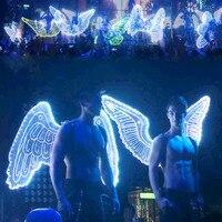 Творческий светодиодный светящийся Ангел крылья для обувь для мужчин и женщин ночной клуб бар показать свет одежда шоу сценический костюм
