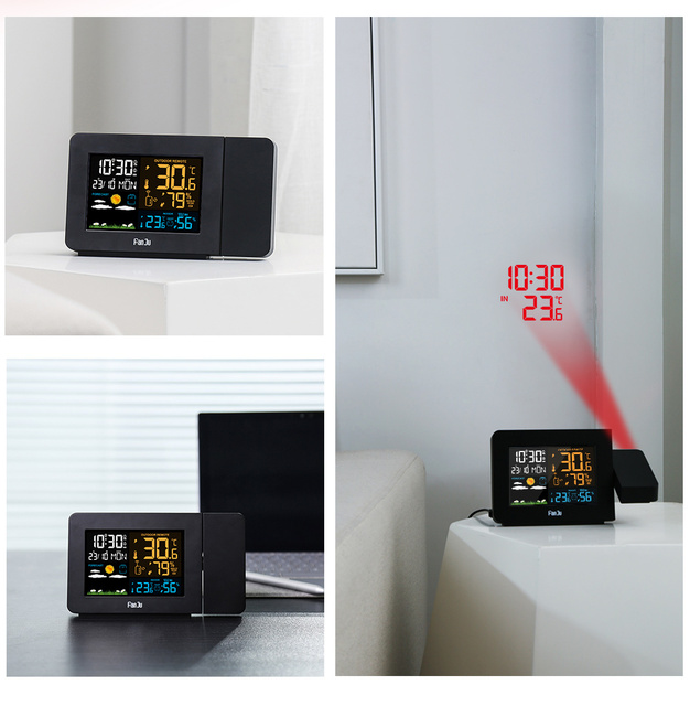 Universal Desk Weather Station with Projector