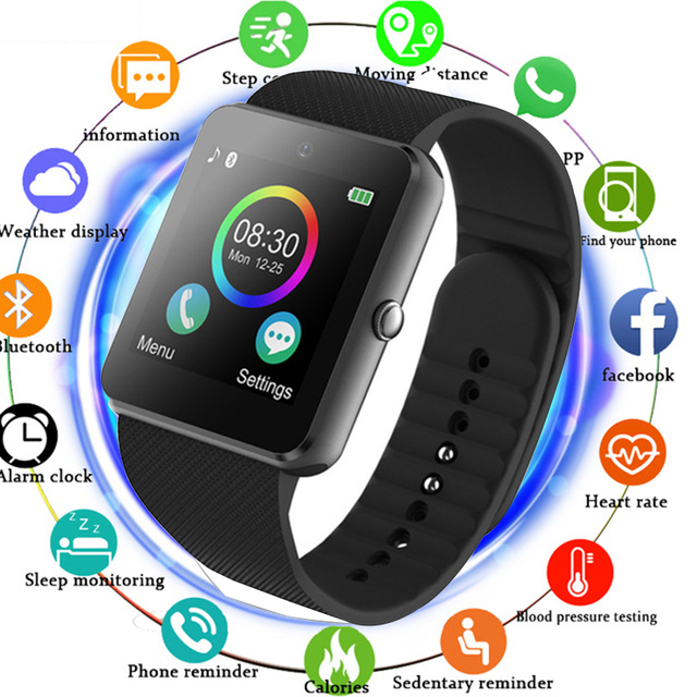 2018 Smart Watch Android GT08 Clock With Sim Card Slot Push Message Bluetooth Co