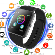 2018 Smart Watch Android GT08 Clock With Sim Card Slot Push Message Bluetooth Connectivity Android font