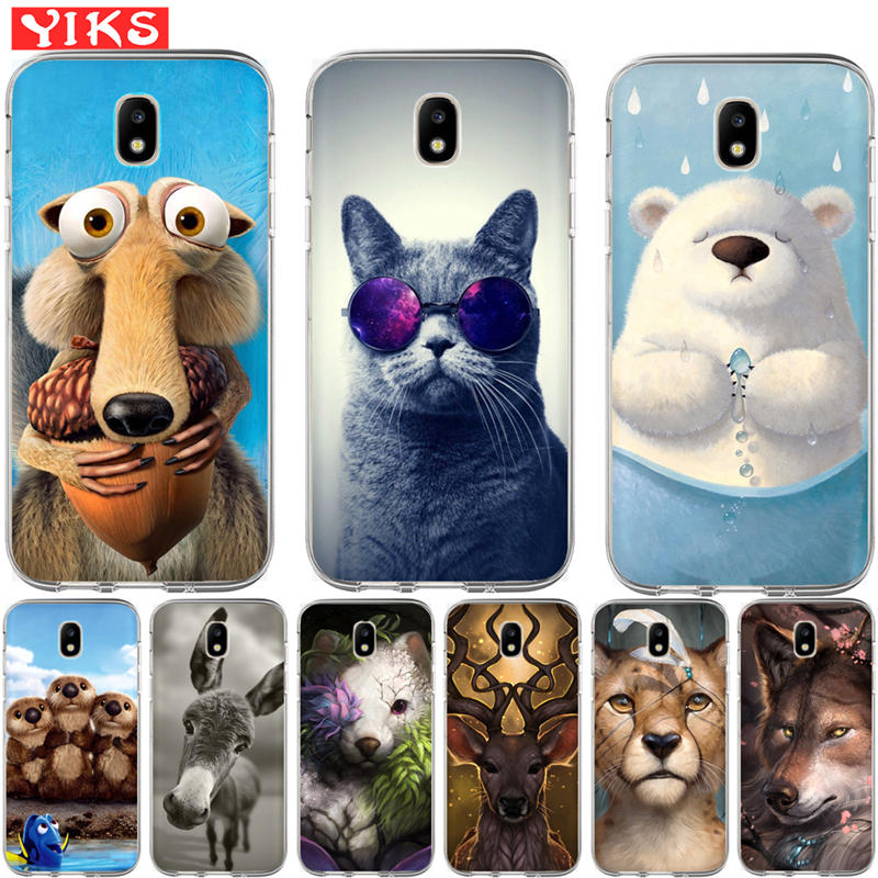 Cute animal wolf cat Case For <font><b>Samsung</b></font> Galaxy J3 J5 <font><b>J7</b></font> 2015 <font><b>2016</b></font> 2017 J2 Prime G530 Cover Case Soft TPU Coque Case Capinha <font><b>Etui</b></font> image