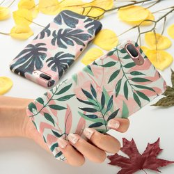 KISSCASE For Case iPhone 7 Fashion Leaf Hard PC Back Cover For iPhone 7 Plus Phone Case Fundas For iPhone 7Plus iPhone7 Coque 5