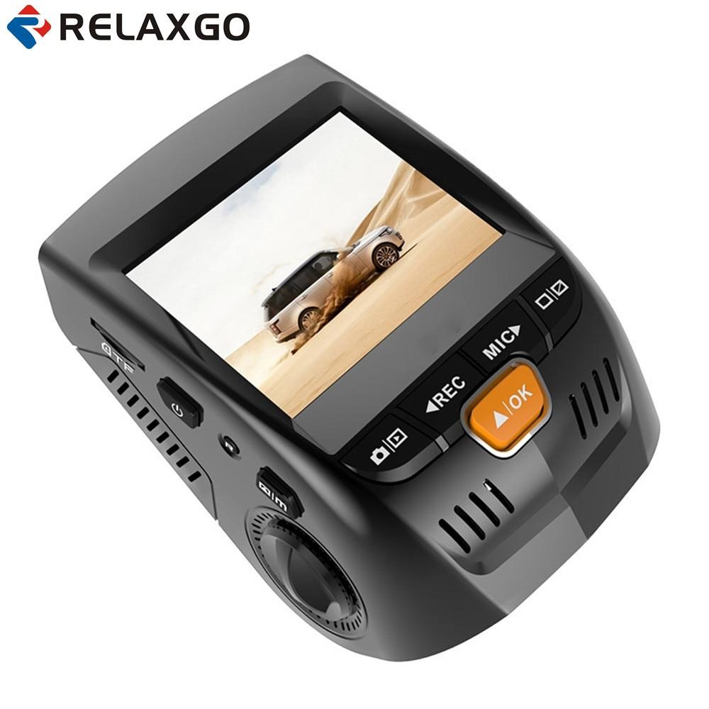 Relaxgo 2.4 Mini Car DVR Dash Cam Full HD 1080P Car Camera Video Recorder Front and Back Cam Night Vision Auto Registrators