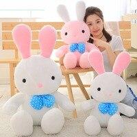BABIQU 1pc 60cm rabbit bow doll white pink plush toy Cartoon image soft stuffed animal child kid friend girl cute kawaii gifts