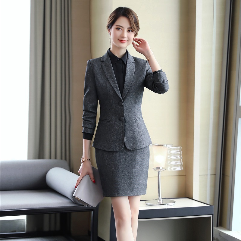 95f2faa4f US $43.62 7% OFF Formal Women Skirt Suits Red Blazer and Jacket Sets Ladies  Business Suits Work Wear Office Uniform Designs Styles-in Skirt Suits from  ...