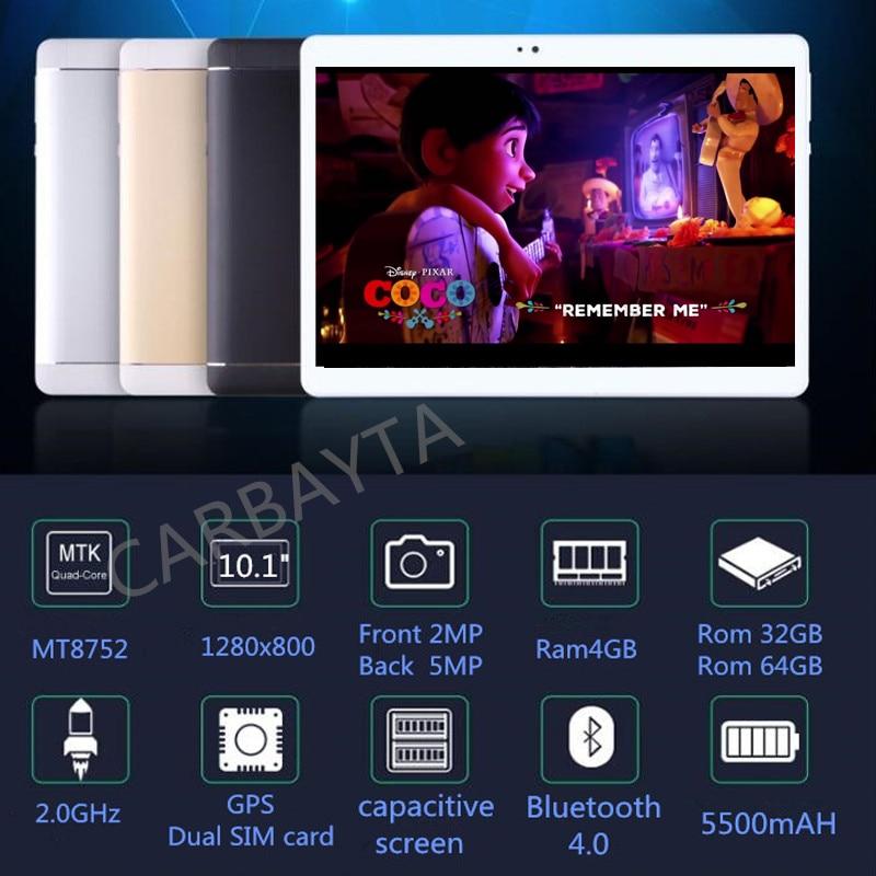 2019 10.1 pouces C108 D'origine 3G Appel Téléphonique Android 8.1 Octa Core Rom 128 GB Android Tablet pc WiFi bluetooth GPS IPS Comprimés 10.1