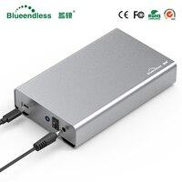 Blueendless Full Aluminum hdd 3.5 hdd enclosure type c hdd box 3.5 sata usb 3.0 external hard disk case for Mac/Windows System