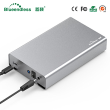 Blueendless Full Aluminum hdd 3.5 inch hdd enclosure type-c hdd box sata usb 3.0 external hard disk case for Mac/Windows System