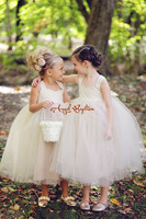 Vintage holy the First Communion Dress sheer Lace Appliques Mid-Calf Ball Gown Flower Girl dresses 2016