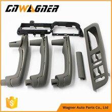 6Pcs /Set Gray Interior Door Handle Cover Bracket Grab Bezel Trim Switch For VW Golf Gti Jetta MK4 1999-2005 3B1867171E