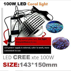 Image 3 - 100w cree led aquário luz marinha recife coral lâmpada do tanque de peixes para água salgada peixes marinhos de água doce pet iluminação cultivada